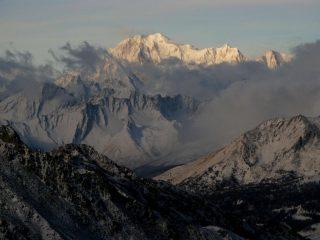 il Monte Bianco osservato dal Colle di Vessona (11-11-2007)