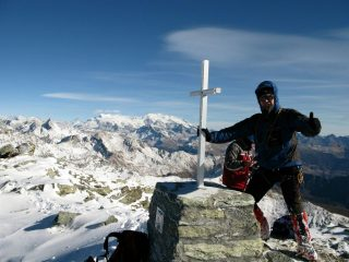 in vetta al Monte Faroma (11-11-2007)