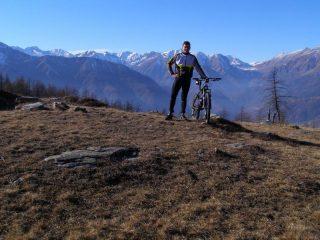 Al Colle Lazzarà, sfondo alta Val Germanasca