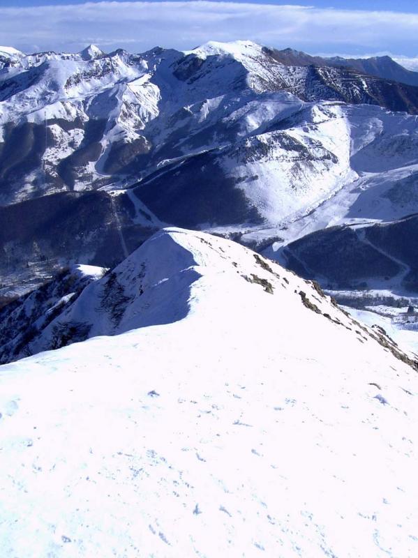La cresta finale vista dall'alto