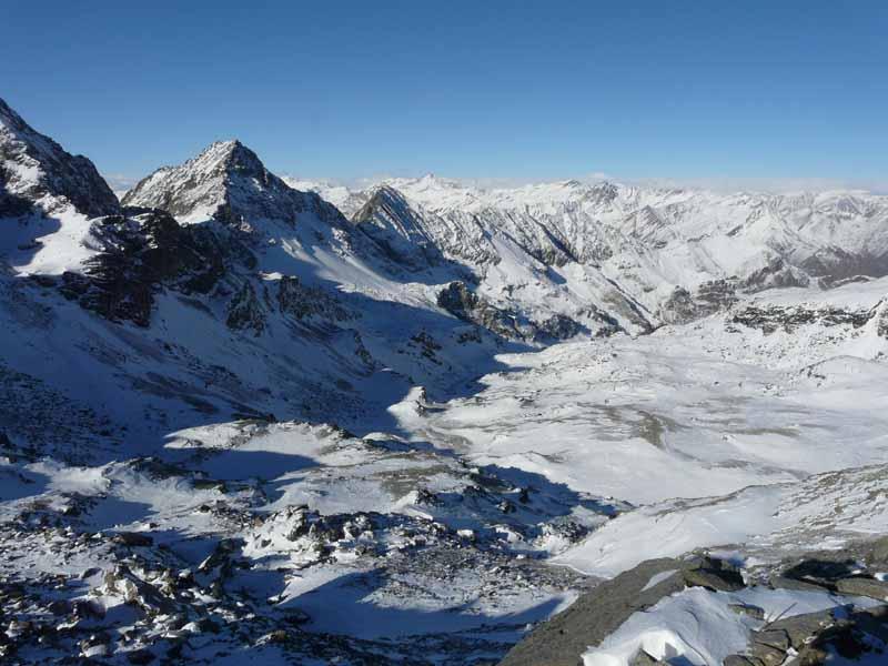 Founs (Rocce) quota 2762 m da Pian della Regina per il Vallone Cumbal del Rio 2007-12-11