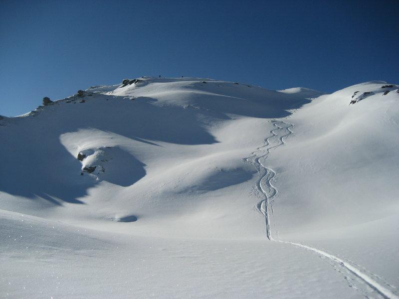 Il tratto finale superiore, oltre il Col du Salvé