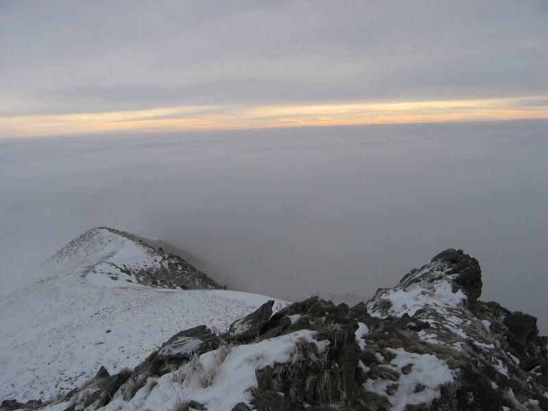 L'ultimo tratto di cresta e... le nuvole