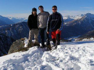 Il trio in cima