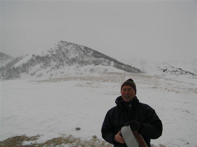 Sotto il Monte Grosso freddo vento e tormenta