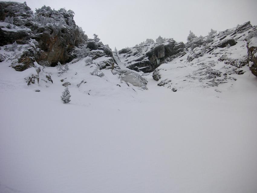 il canalone sopra la cascata!