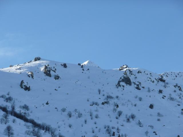 Parte bassa dell'itinerario con la cima sullo sfondo