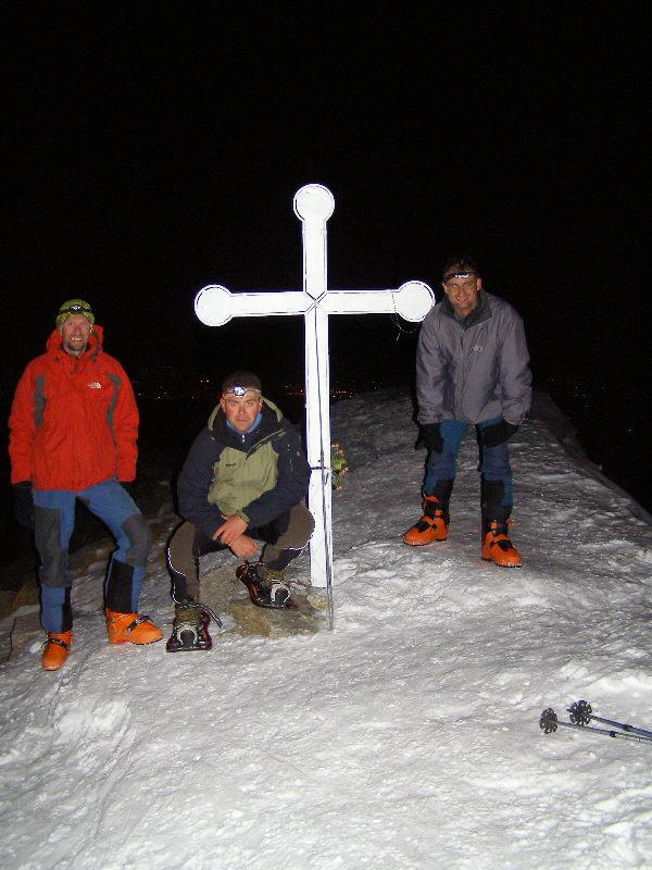In cima con Alberto ed Enrico