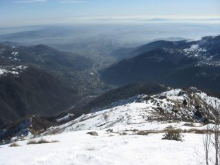 Dalla croce, vista verso valle