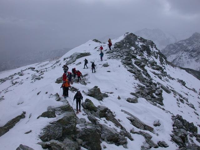 La bella crestina finale del Mont Ros