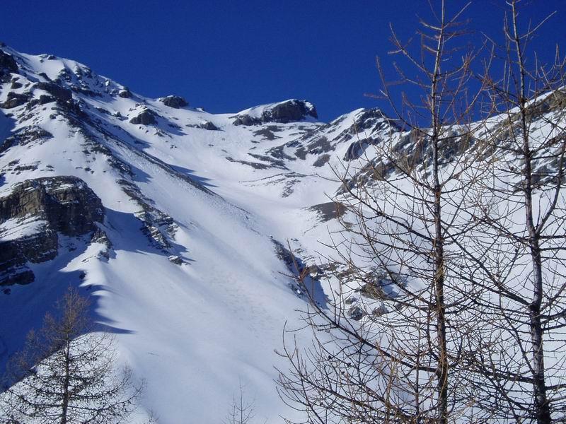 Vista del vallone della Chalanche Ronde