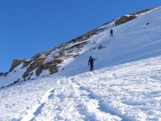 Parte alta, poca neve rimasta