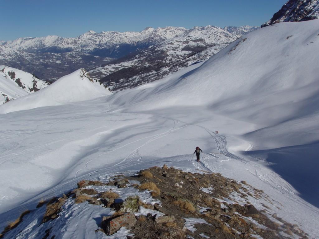 L'imbocco del vallone dal Colletto 2450m