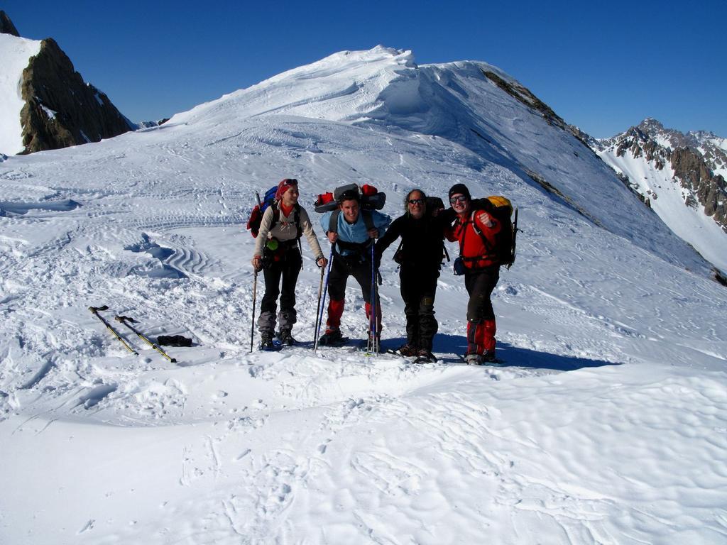 Rita, Luca, Gianfranco e Stelvio sulla cresta Nord-Est del Monte Bodoira (17-2-2008)