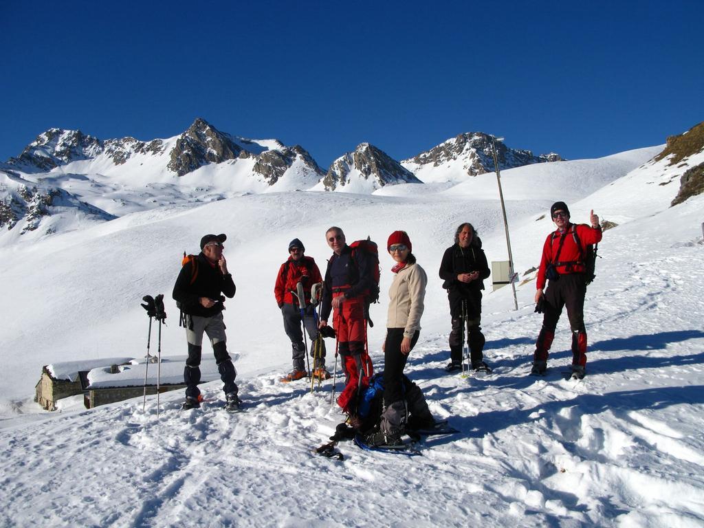 foto di gruppo al Colle del Preit