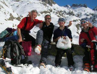 Sci alpinisti in allegria
