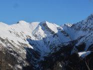 Sulla sinistra i monti de la Saxe e la Testa Bernarda