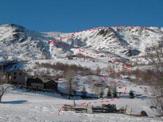 l'itinerario visto dall'alpe Capanne