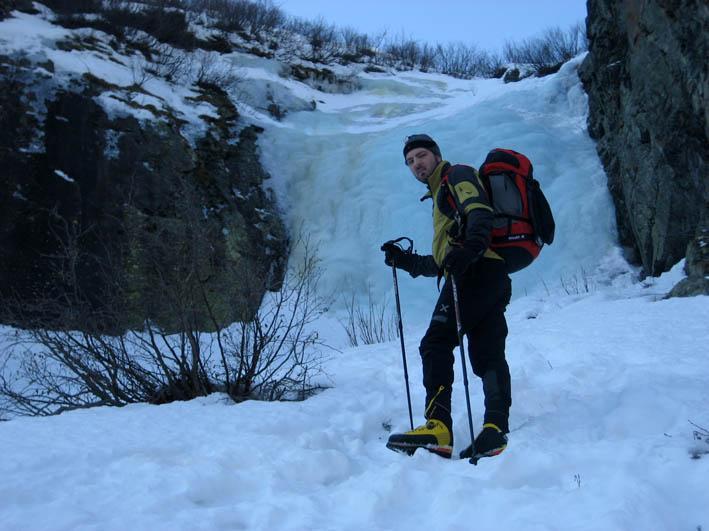 Ale alla base della cascata centrale