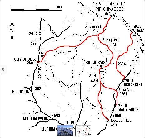 mappa itinerario con quota CTR