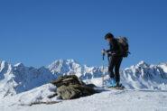 Arrivo in vetta con vista spettacolare sul Monte Bianco   I   L'arrivée au sommet avec une vue étonnante sur le Mont Blanc   I   Reaching the top with a superb view on Mont Blanc   I   Ankunft am Gipfel mit spektakulärem Blick auf den Mont Blanc   I   Llegada a la cumbre con vistas espectaculares al Mont Blanc