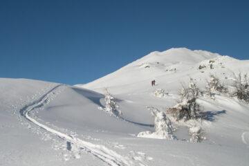 L'ampio crestone verso la vetta   I   La vaste arête vers le sommet   I   The wide ridge leading to the summit   I   Breiter Rücken Richtung Gipfel   I   La amplia cresta hacia la cumbre