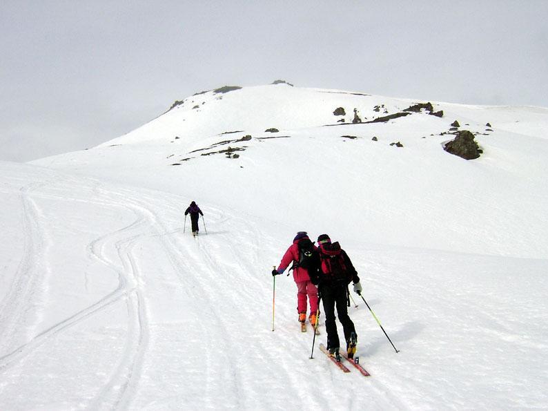 in vista della cima Saurel