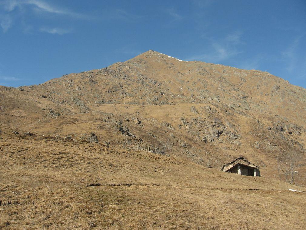 Il versante e cresta di salita