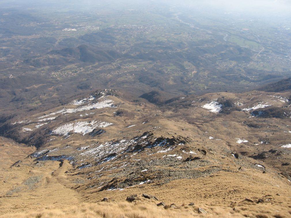 Dalla cresta, panorama su S. Elisabetta