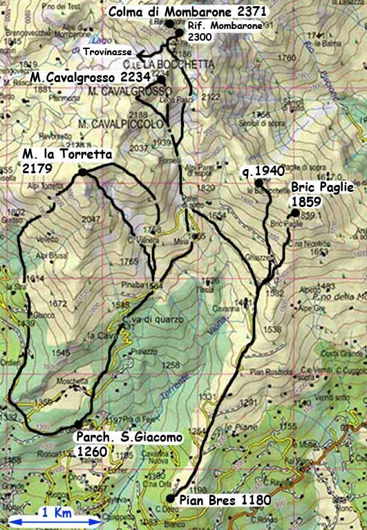 Cavalgrosso (Monte) da Pian Bres
