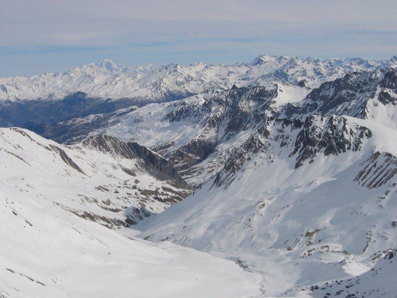Panorama dalla vetta verso la Maurienne