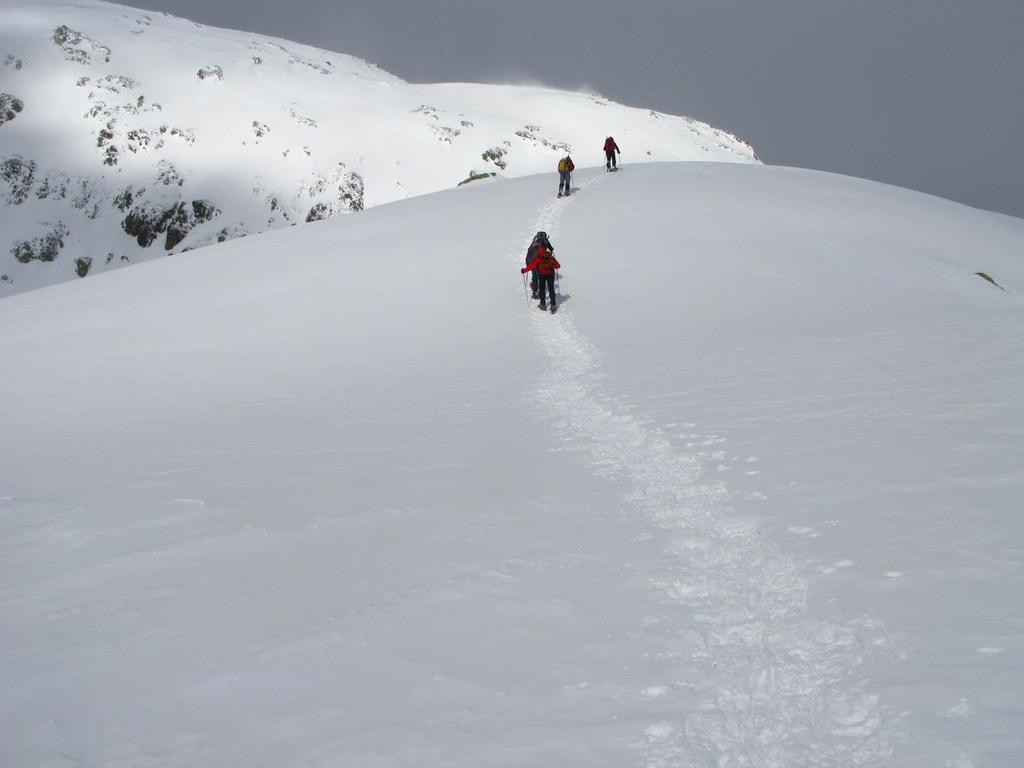 salendo nella parte alta del Vallone di Schiantalà (16-3-2008)