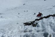 La ripida uscita al colle   I   La sortie raide du col   I   The steep exit to reach the col   I   Der steile Austritt zum Sattel   I   La empinada salida al collado