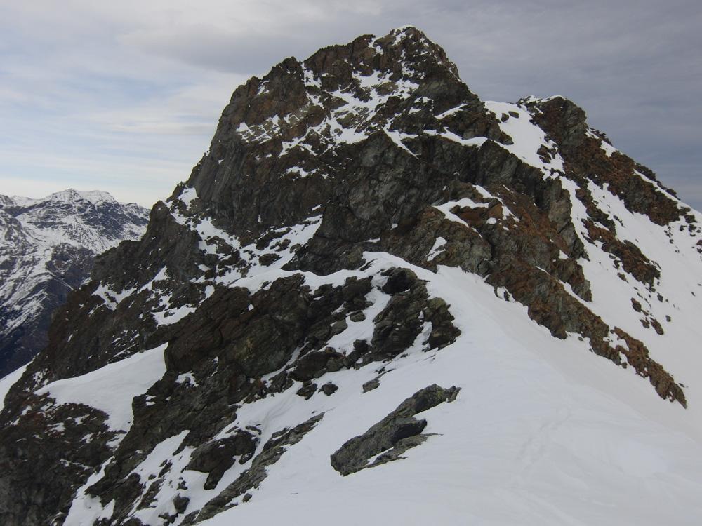Lunella (Punta) anticima Ovest 2670 m da Crosatto 2013-01-08