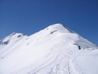 Mont Flassin (a sinistra) e anticima (a destra)