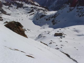 Lago di Valscura dai pendii finali