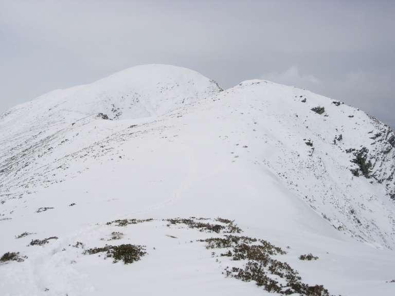 La cima vista dallo spallone di quota 1900