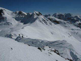 La cresta dal colle di Valmeinier