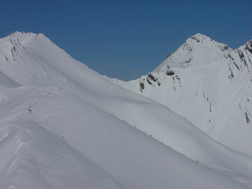 Formiche da nord verso il Pic Blanc