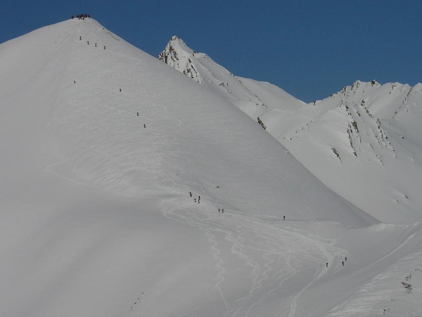 Processione al Pic Blanc