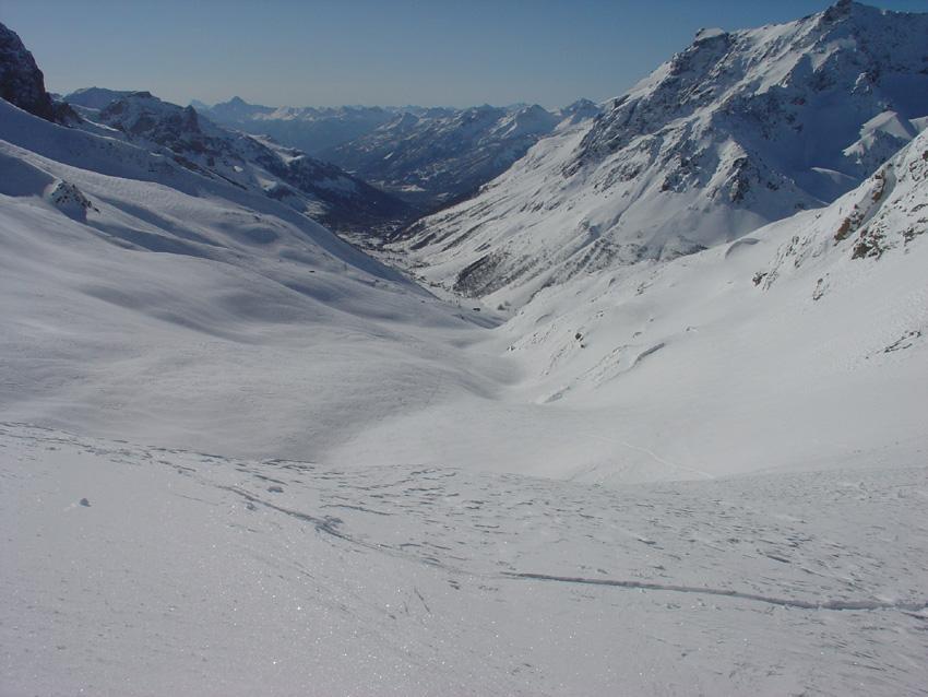 La Val Guisane dalla caserma
