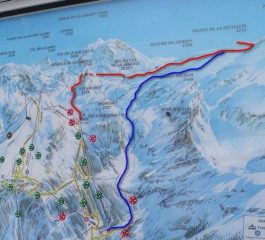 percorso rosso = salita, blu = discesa