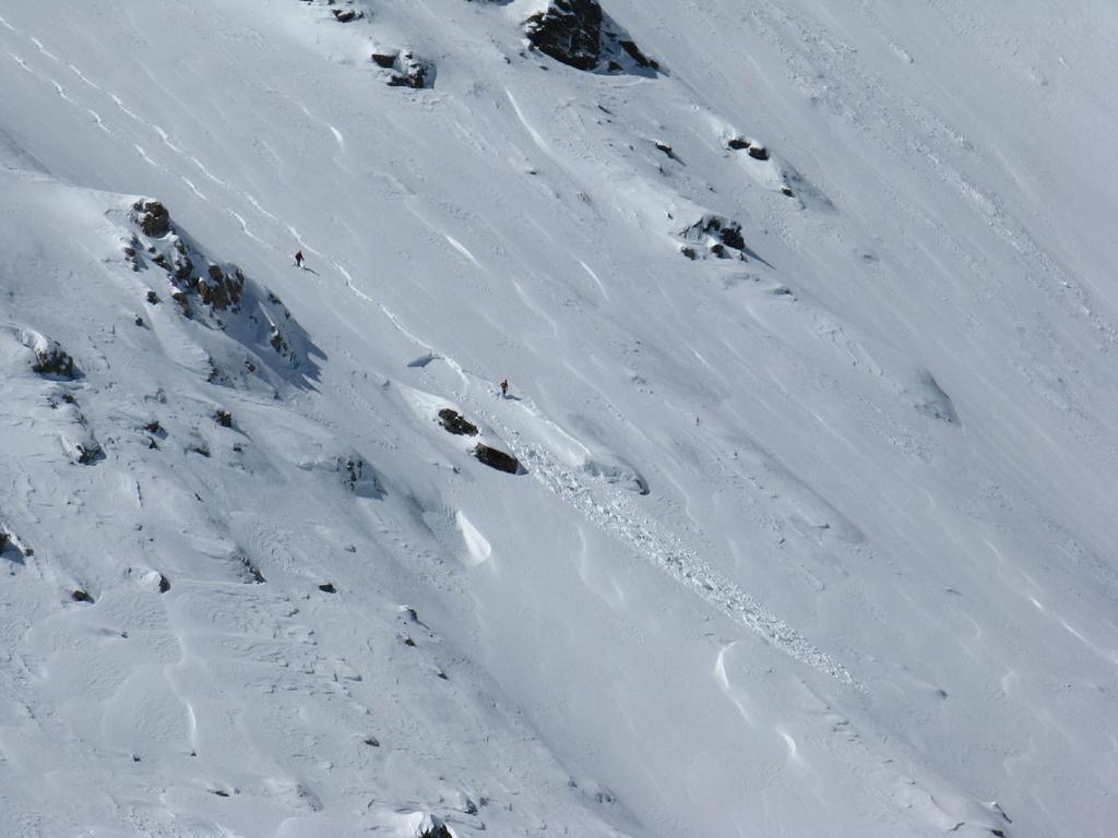 gli scialpinisti e la valanga