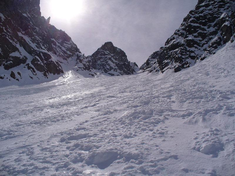 Neve lavorata nel conoide