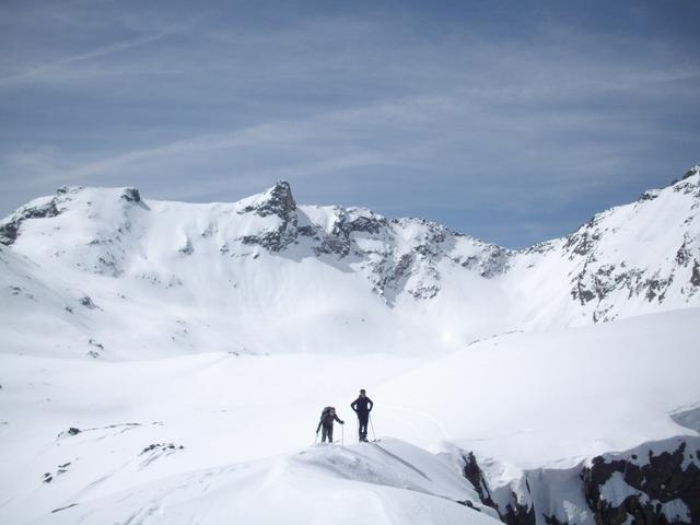 arrivo in cima, sullo sfondo la Montagnetta