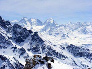 Panorama sul gruppo del Bernina