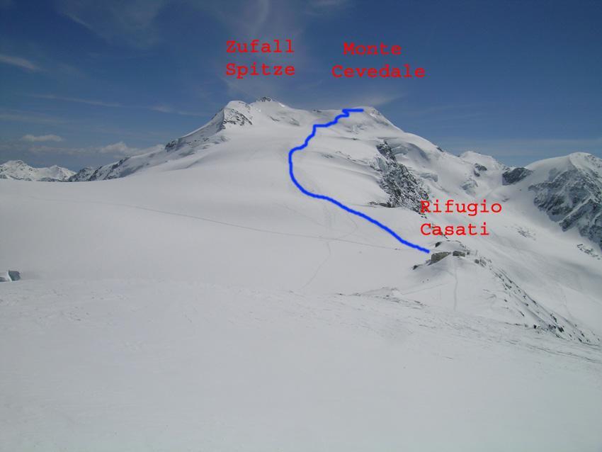 Cevedale (Monte) dalla val Martello (discesa Vedretta Lunga) 2008-04-27