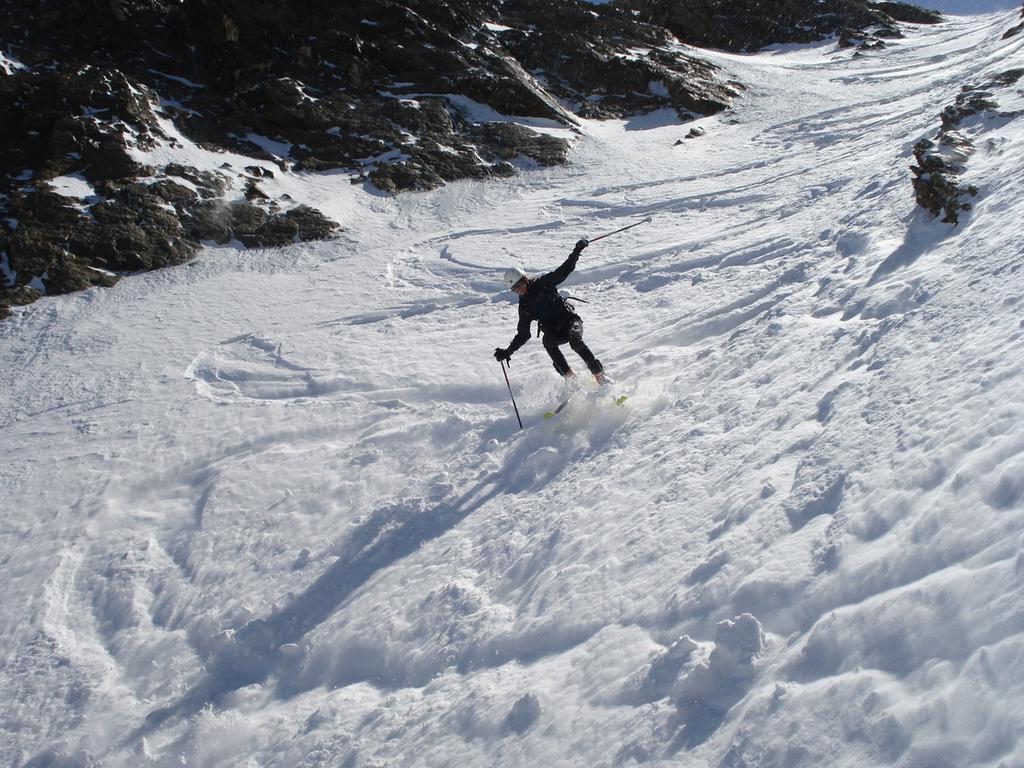 francy nella parte alta dialoga con la neve e il vento