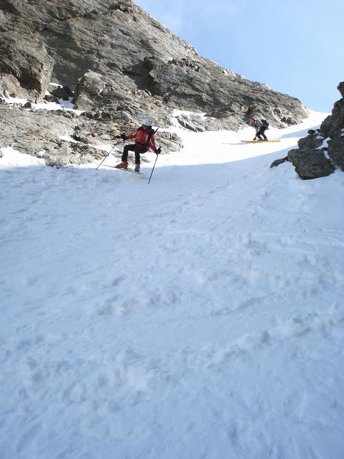 nella parte alta neve TECNICA