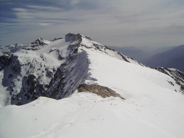 cresta sommitale con il Niblé sullo sfondo